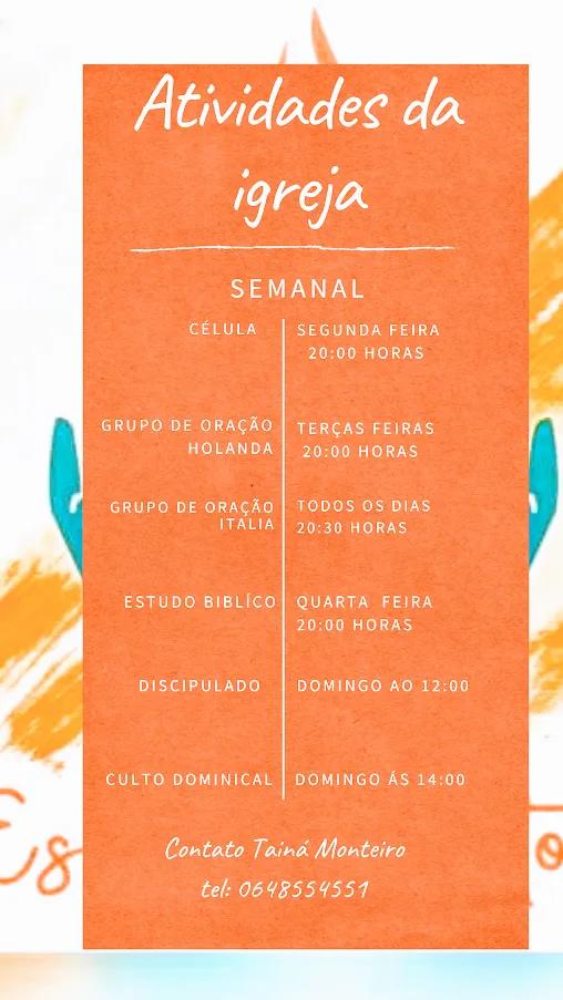 atividades da igreja - Bem vindos à Igreja Brasileira